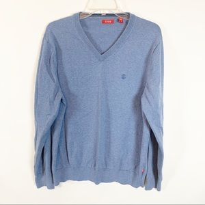 Izod Sweaters - (3 for $25) IZOD Blue Neck Sweater Size Large